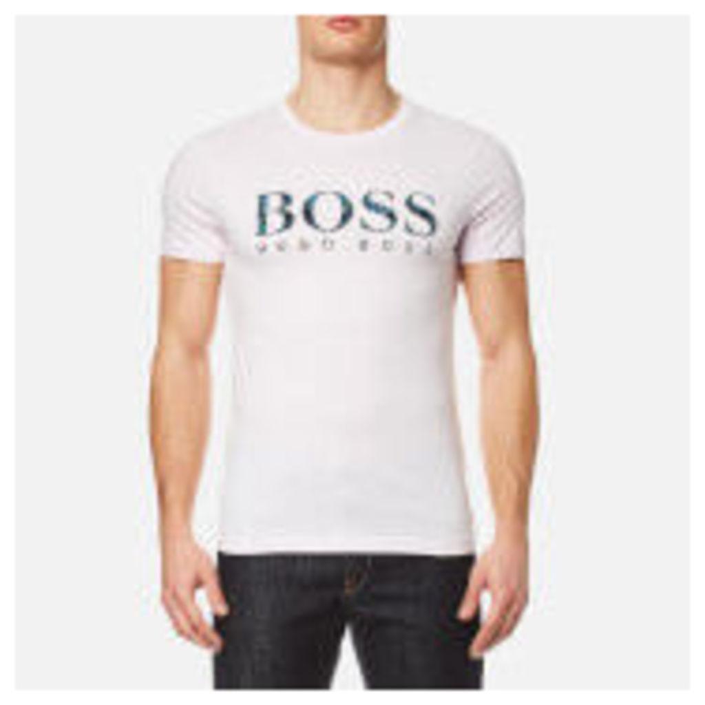 BOSS Orange Men's Tacket 1 Large Logo T-Shirt - Light Pastel Pink