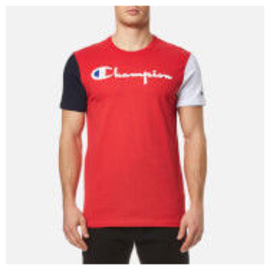 Champion Men's Chest Logo T-Shirt - Red