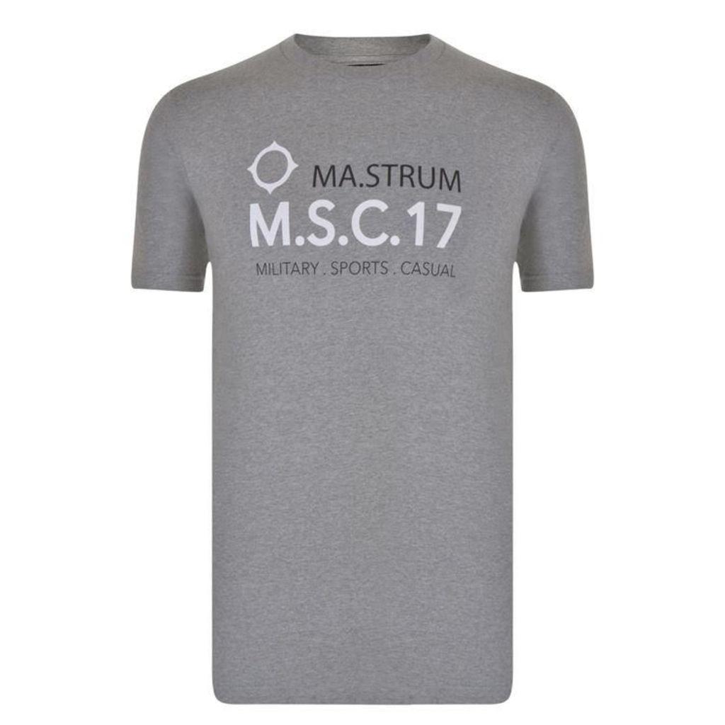 MA STRUM Giatsin Msc17 Logo T Shirt