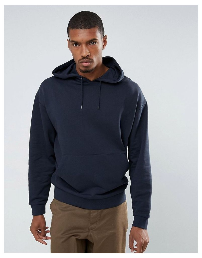 ASOS Oversized Hoodie In Navy - Shaken not stirred