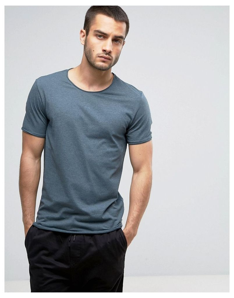 Weekday Dark T-Shirt - Petrol melange