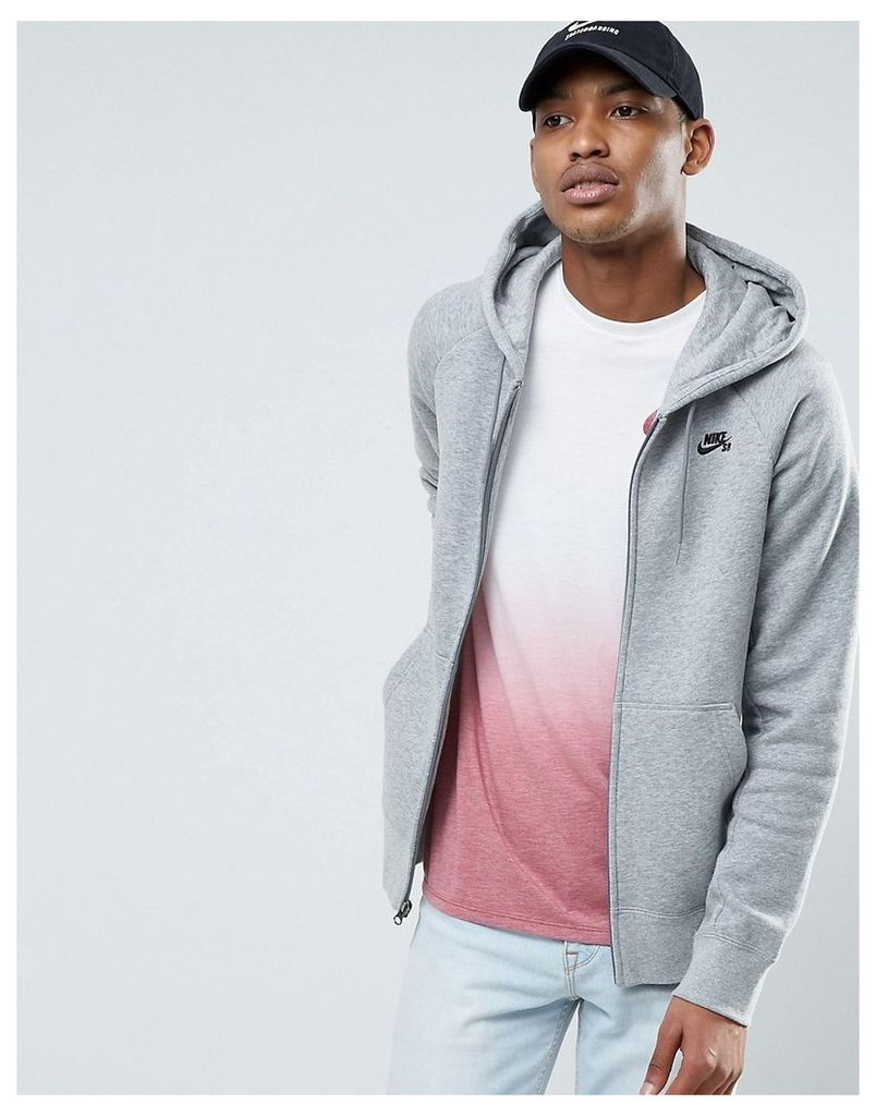 Nike SB Icon Pullover Hoodie In Grey 800149-063 - Grey