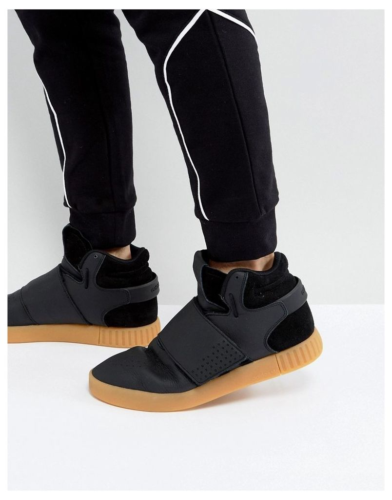 adidas Originals Tubular Invader Strap Trainers In Black BY3630 - Black