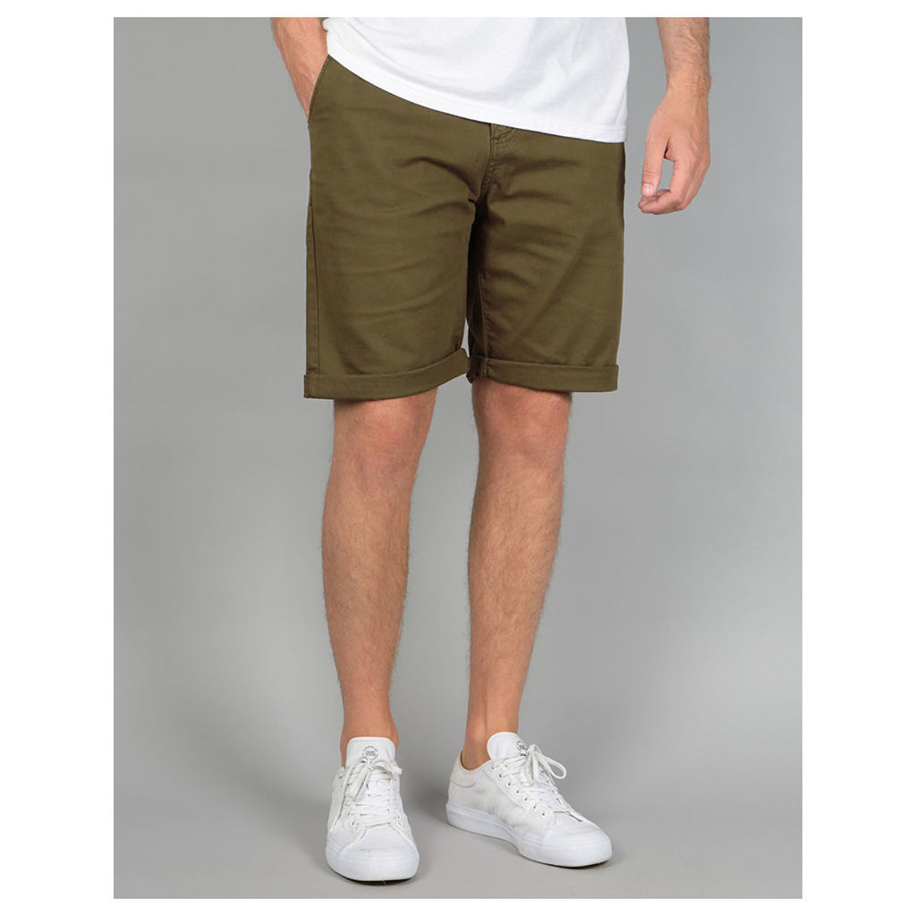 Route One Roll Up Chino Shorts - Olive (30)