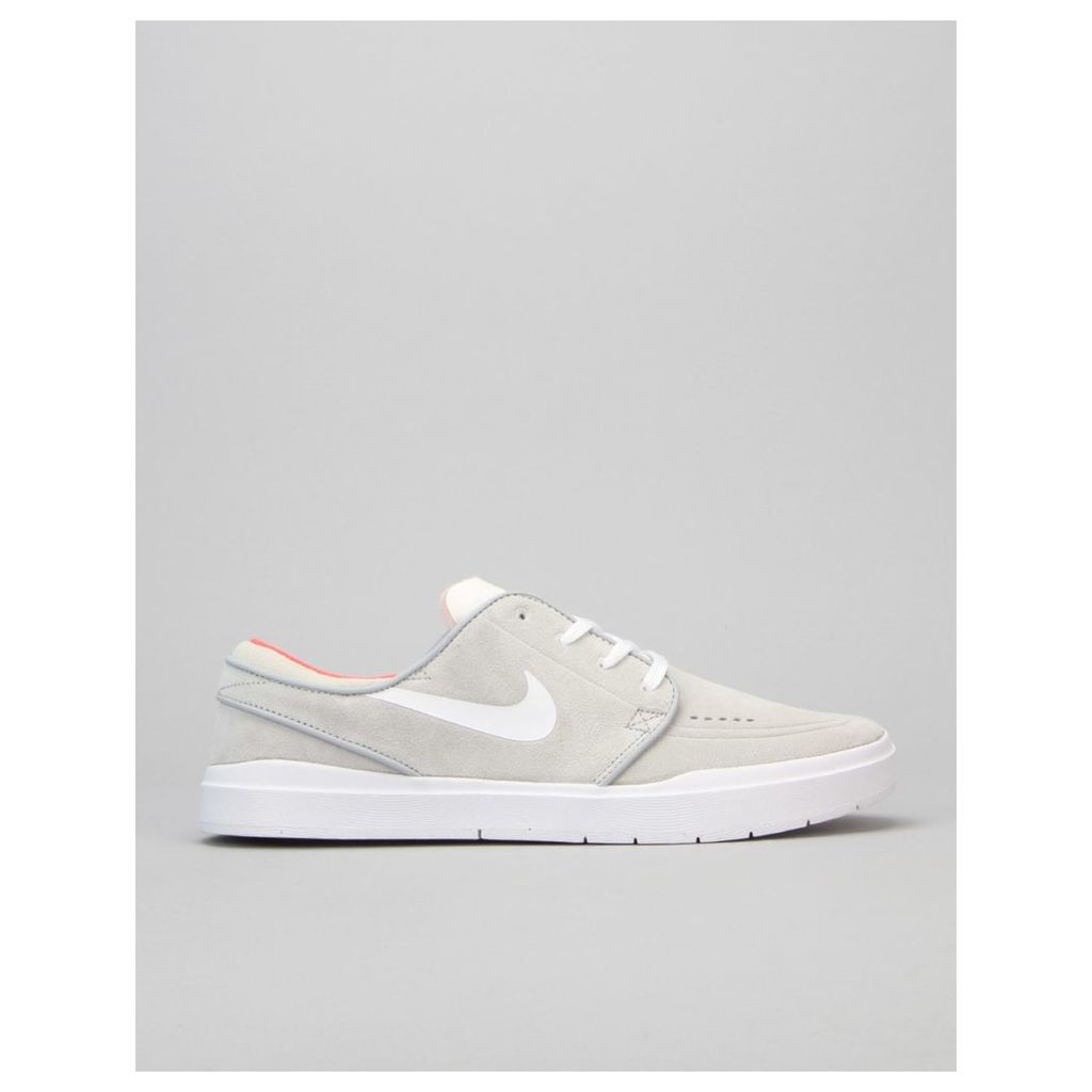 Nike SB Stefan Janoski Hyperfeel Skate Shoes - Wolf Grey/Bright Crmsn (UK 7)