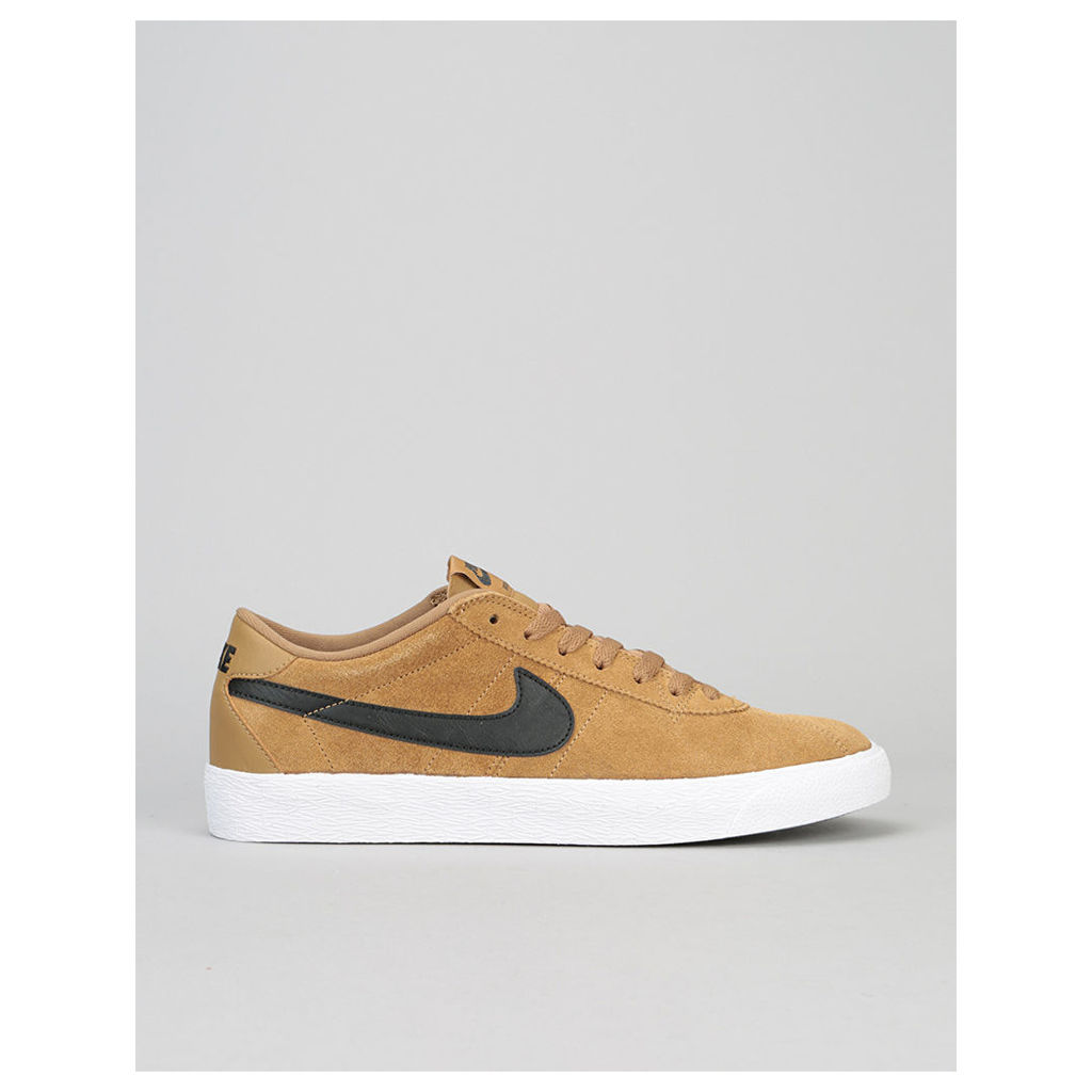 Nike SB Bruin Premium SE Skate Shoes - Golden Beige/Black-White-Black (UK 7)