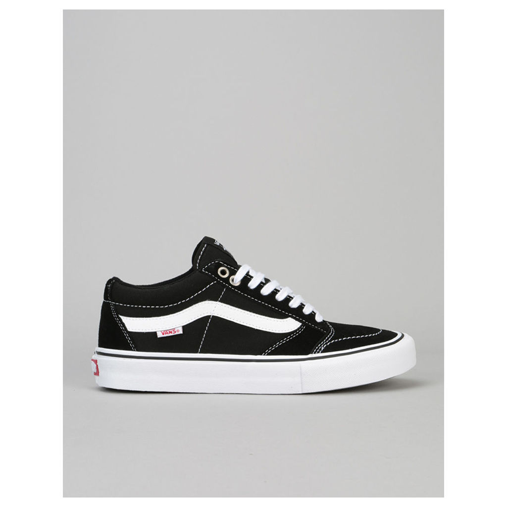 Vans TNT SG Pro Skate Shoes - Black/White (UK 7)