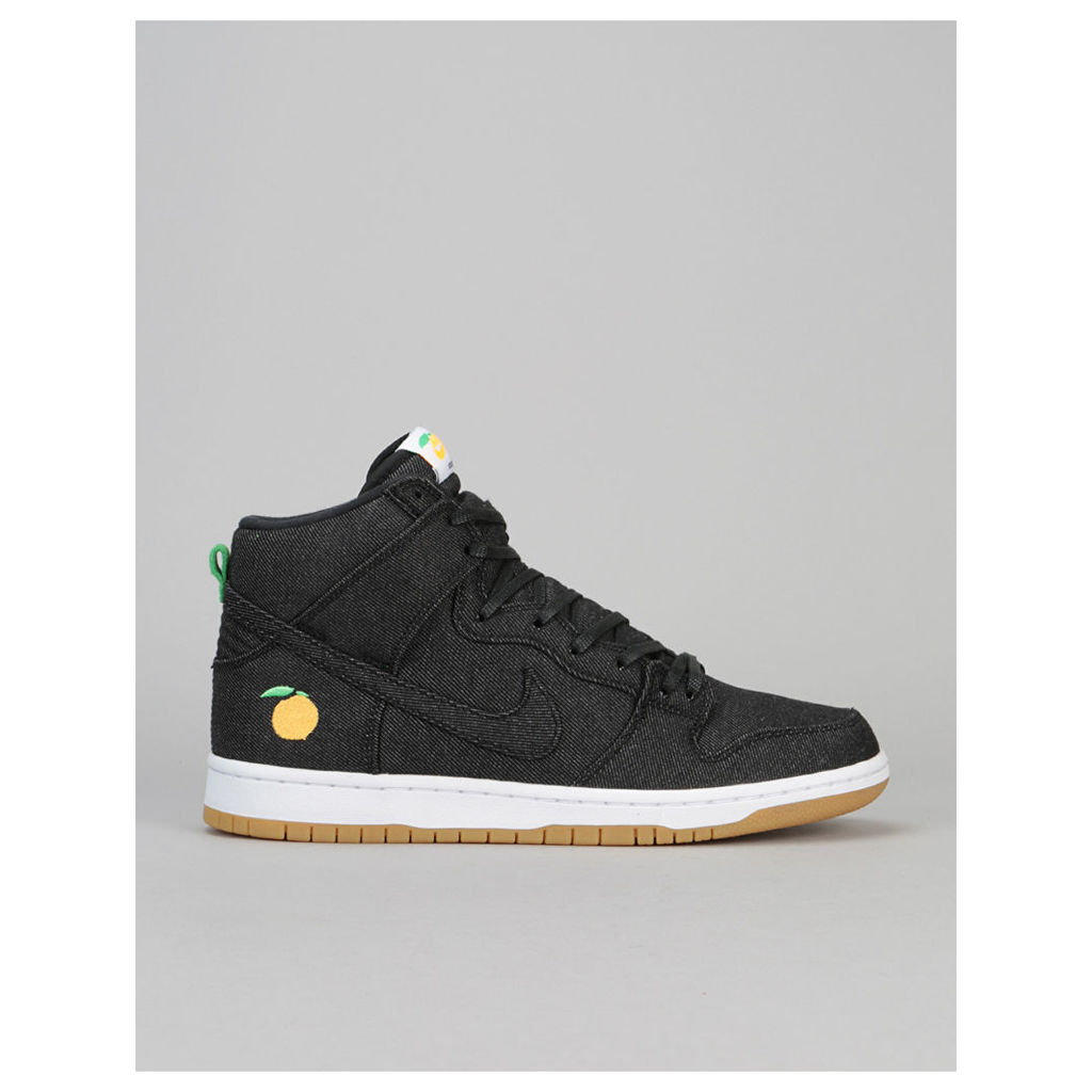 Nike SB Dunk High 'Momofuku' QS Skate Shoes - Black/Black-White-Orange (UK 7)