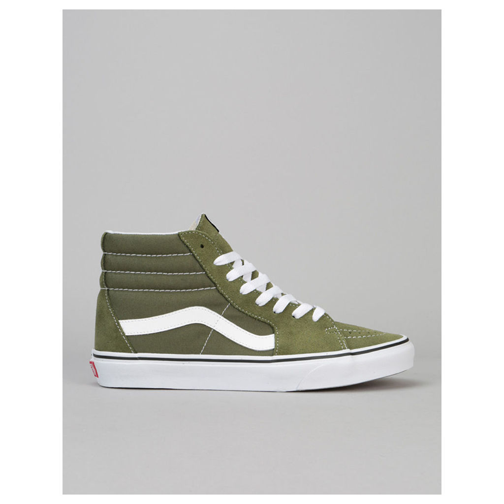 Vans Sk8-Hi Skate Shoes - Winter Moss/True White (UK 7)