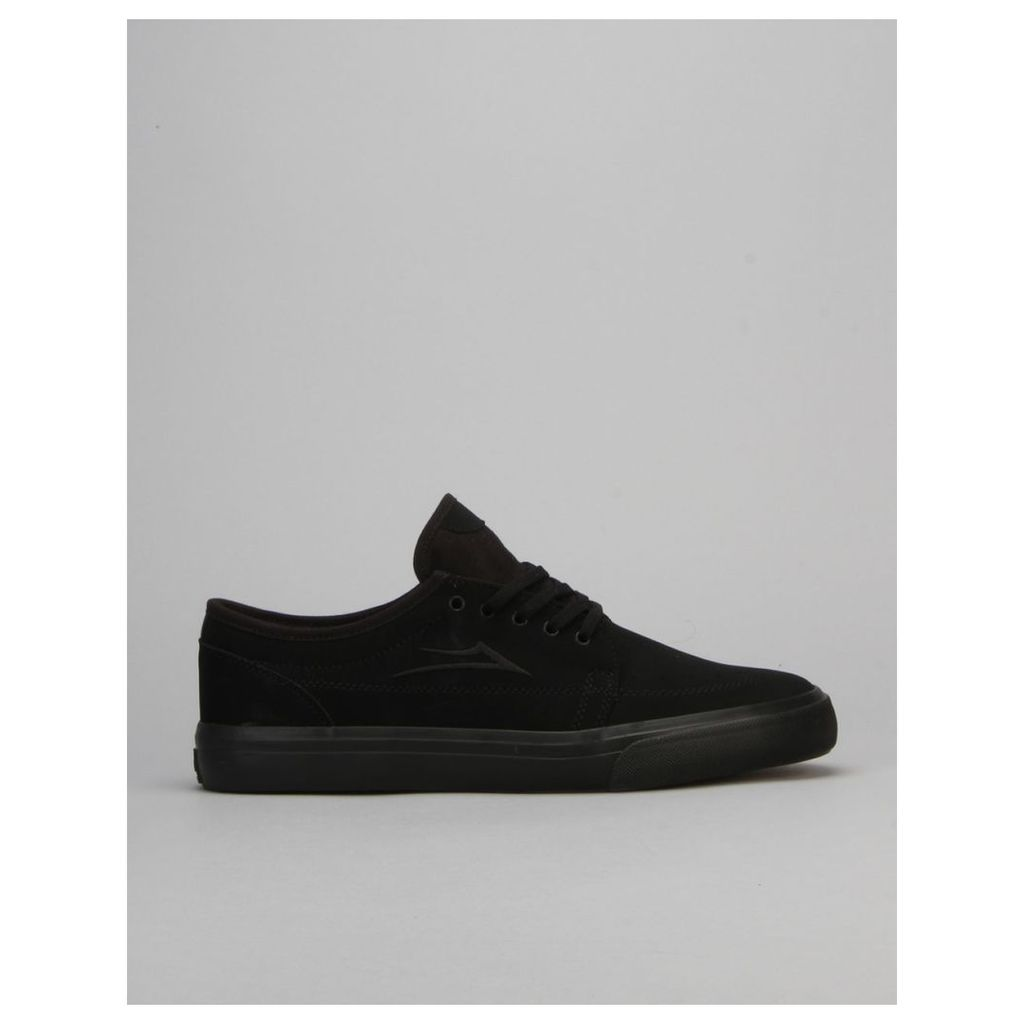 Lakai Madison Skate Shoes - Black/Black Nubuck (UK 7.5)