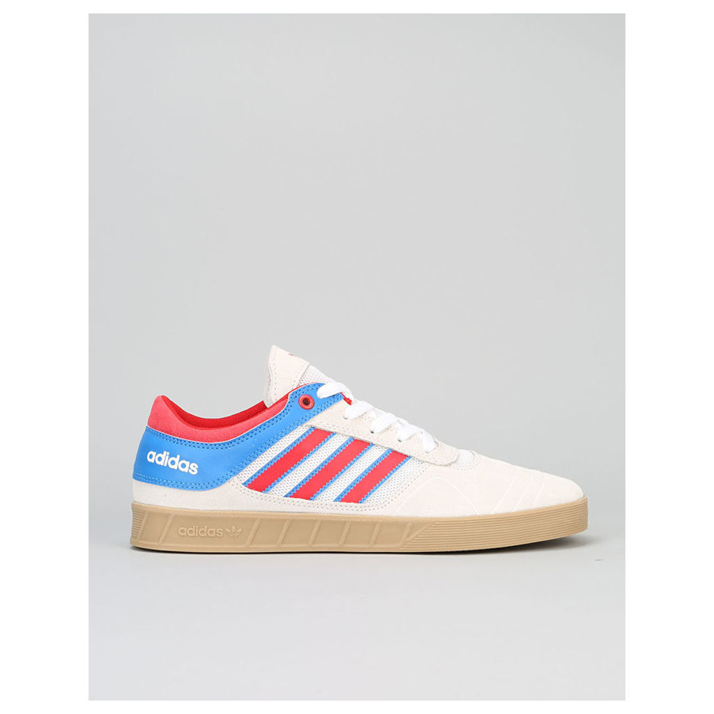 Adidas Claremont ADV Skate Shoes - Crystal White/Scarlet/Bluebird (UK 10.5)
