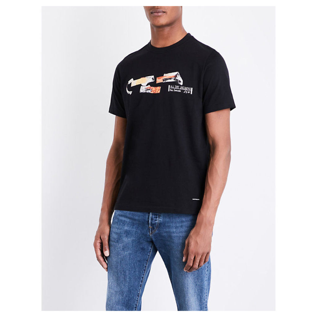 Ps By Paul Smith All Day Breakfast cotton-jersey T-shirt, Mens, Size: M, Black