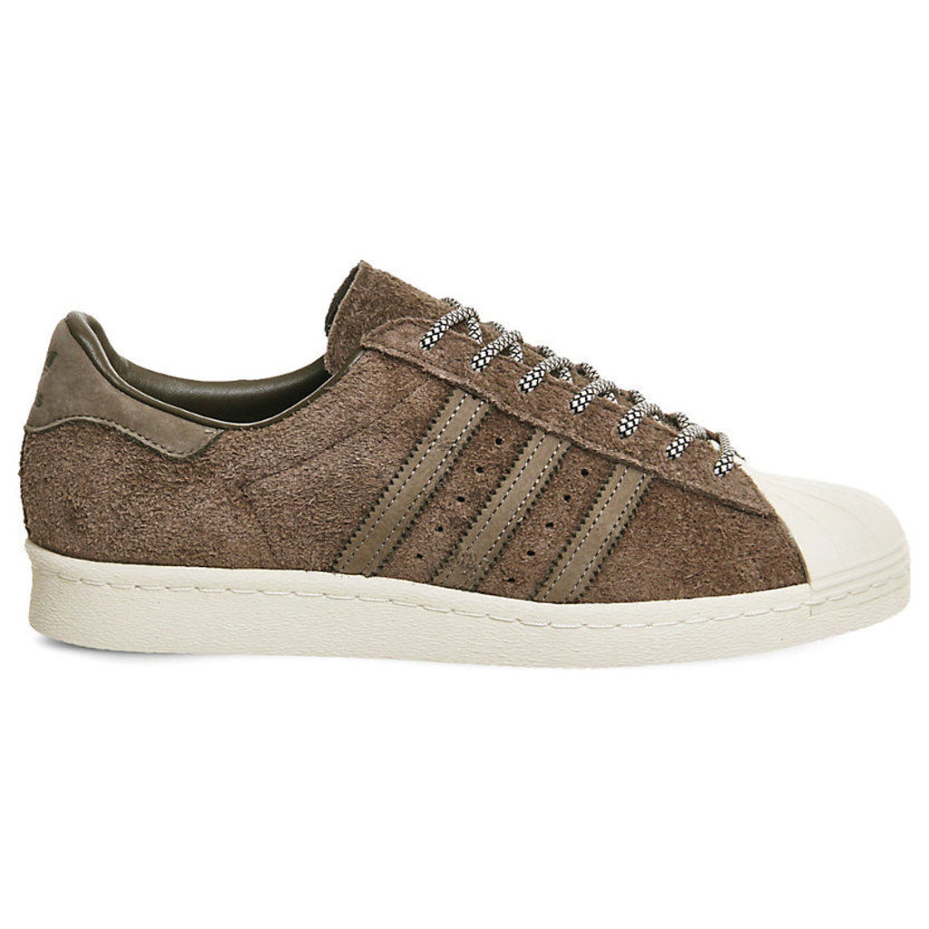 Adidas Superstar 80s suede trainers, Mens, Size: 11, Simple brown chalk