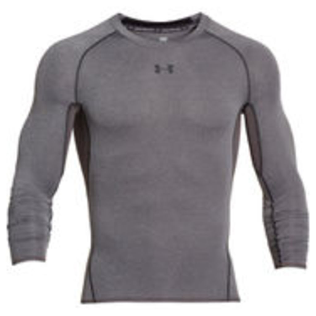 Under Armour Men's Armour HeatGear Long Sleeve Compression Top - Carbon Heather/Black