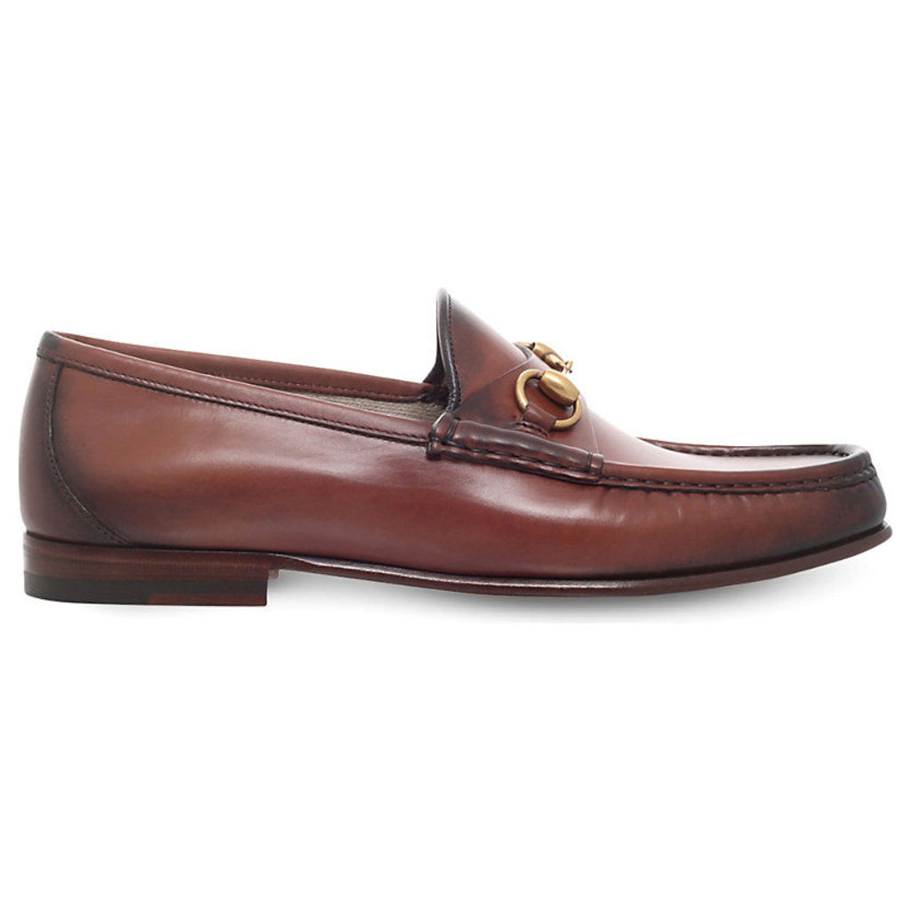 Gucci Roos 1953 leather loafers, Mens, Size: EUR 40 / 6 UK MEN, Brown