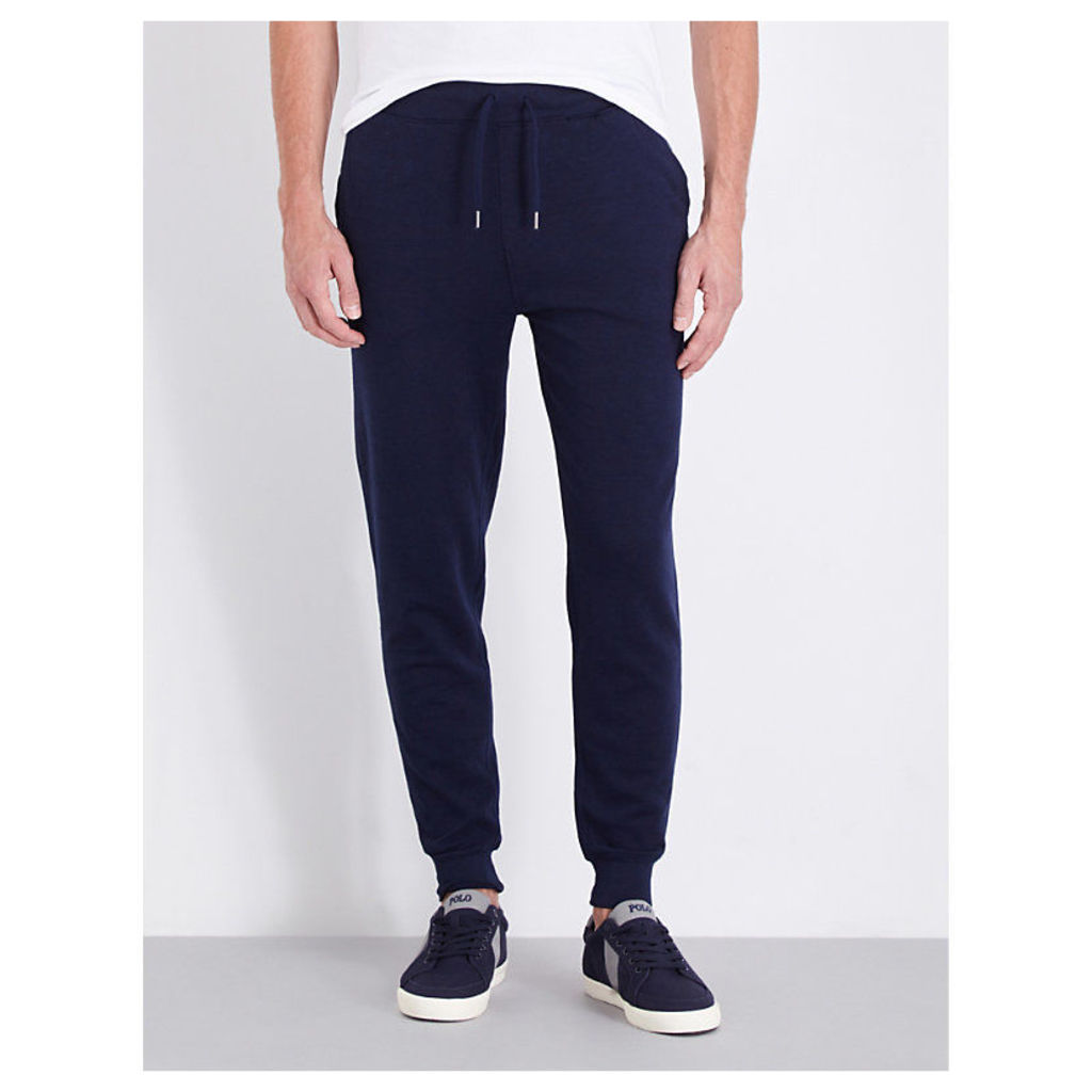 Polo Ralph Lauren Mid-rise cotton-jersey jogging bottoms, Mens, Size: M, Cruise  navy