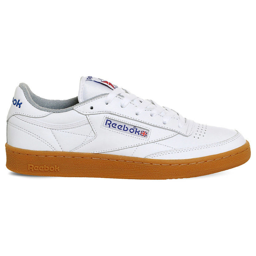 Reebok Club C 85 leather trainers, Mens, Size: 7, White reebok blue