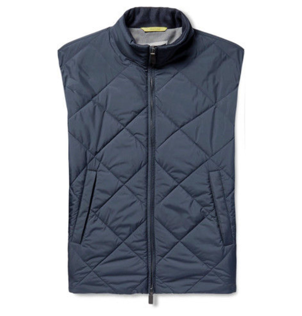 Canali - Reversible Water-resistant Quilted Shell Gilet - Blue