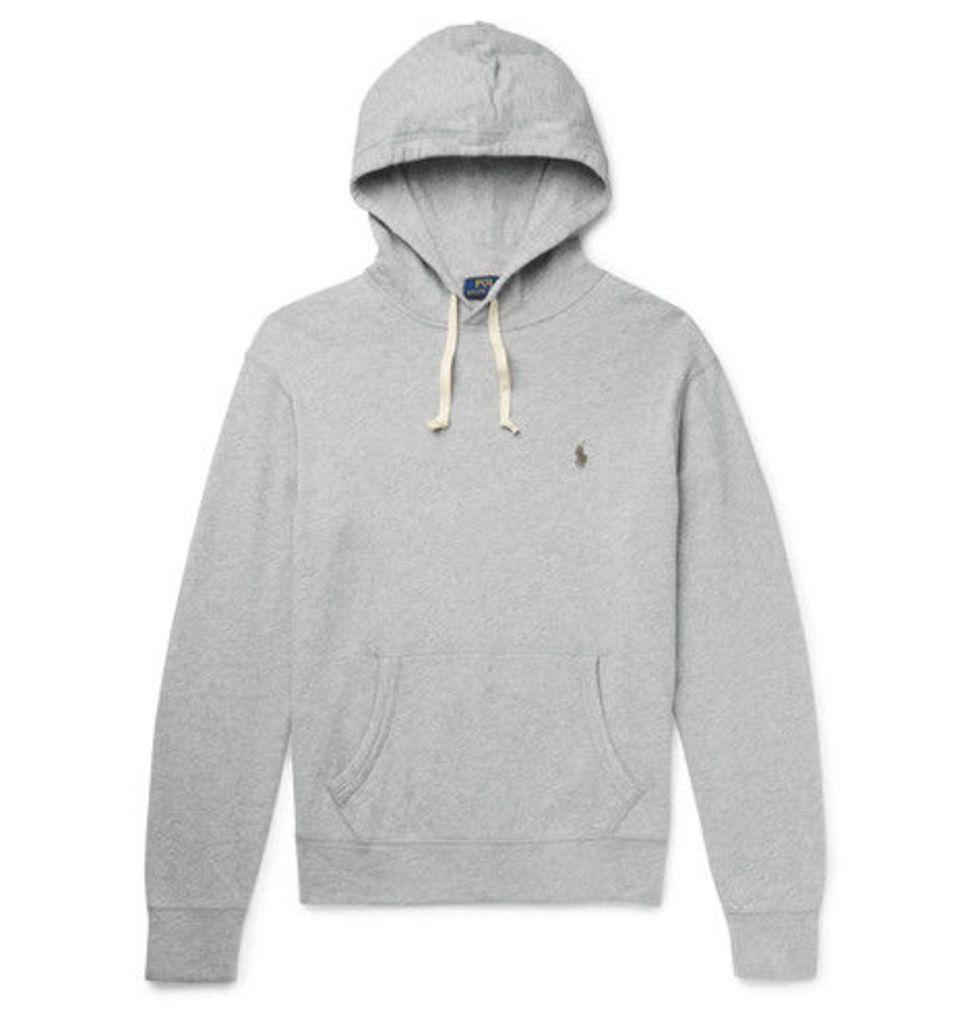 Polo Ralph Lauren - Loopback Cotton-jersey Hoodie - Gray