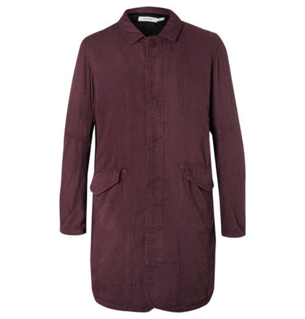 nonnative - Tourist Herringbone Cotton Coat - Burgundy