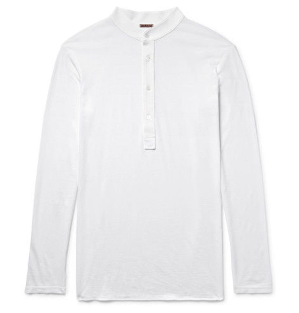 Barena - Nalin Cotton-jersey Henley T-shirt - White