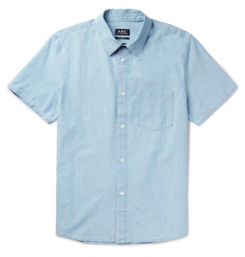 A.P.C. - Bryan Slim-fit Cotton-chambray Shirt - Blue