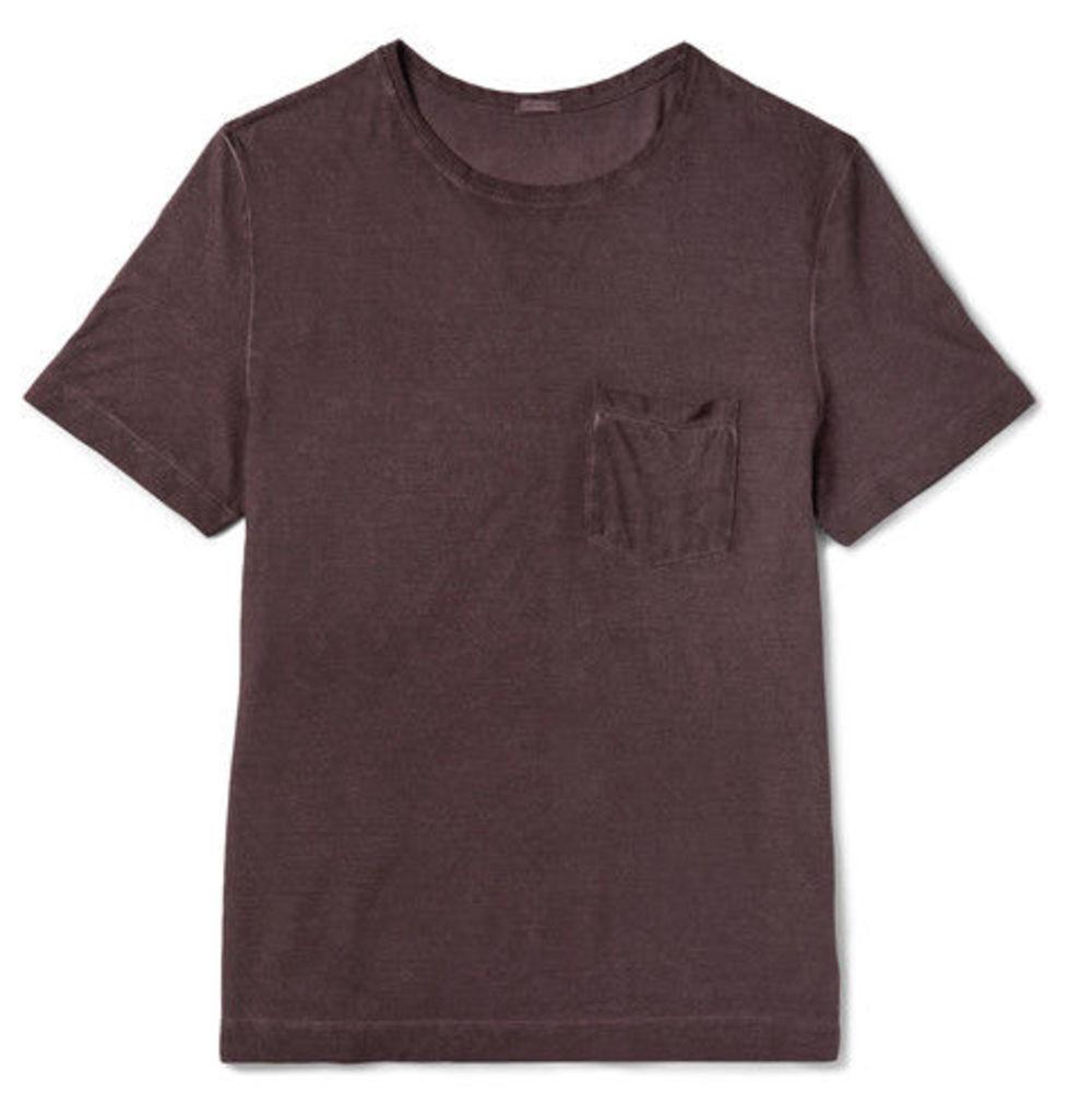 Massimo Alba - Panarea Slim-fit Garment-dyed Cotton-jersey T-shirt - Merlot