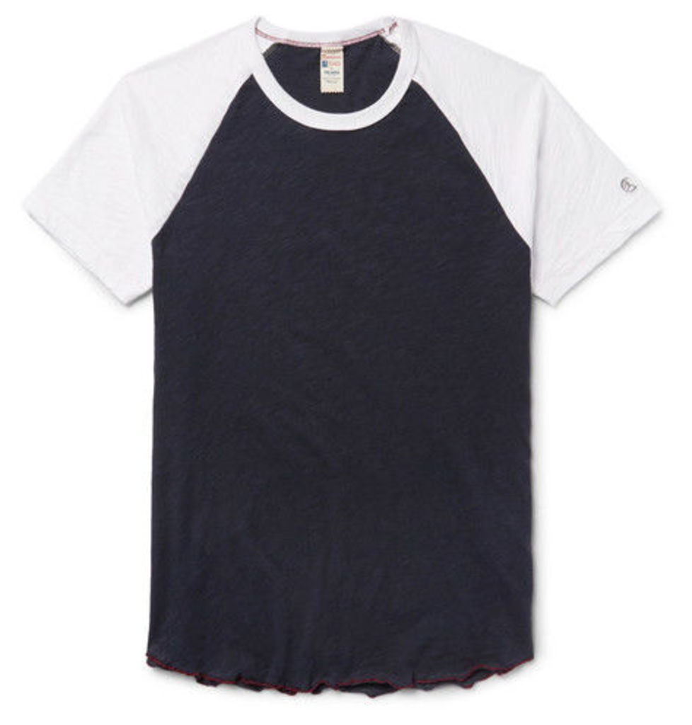 Todd Snyder + Champion - Slub Cotton-jersey T-shirt - Midnight blue