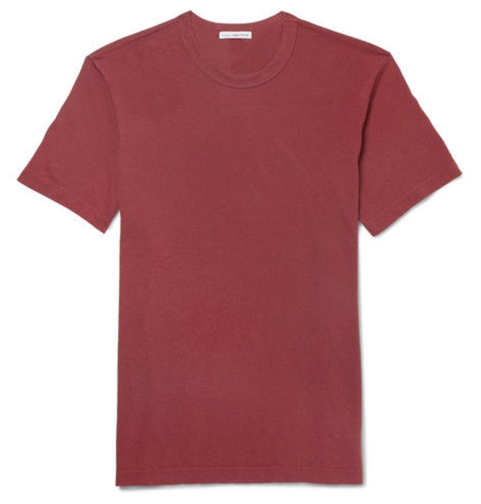 James Perse - Slim-fit Cotton-jersey T-shirt - Brick