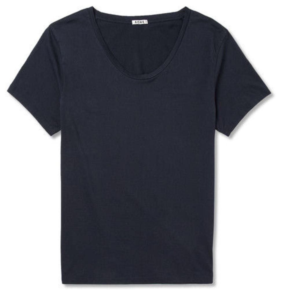 Acne Studios - Limit Cotton-jersey T-shirt - Midnight blue