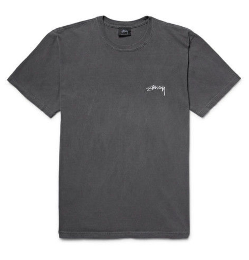 Stüssy - Paradise Lost Printed Cotton-jersey T-shirt - Charcoal