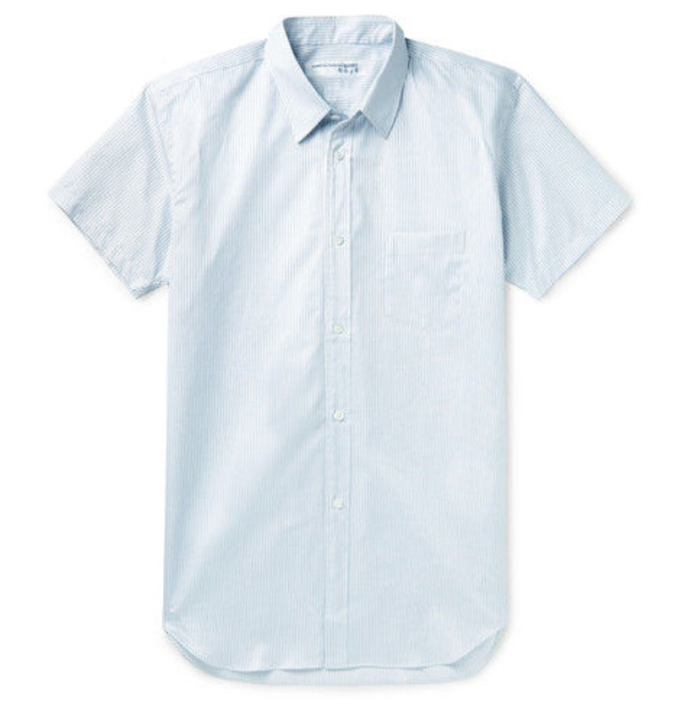 Comme des Garçons SHIRT - Slim-fit Striped Cotton-poplin Shirt - Blue