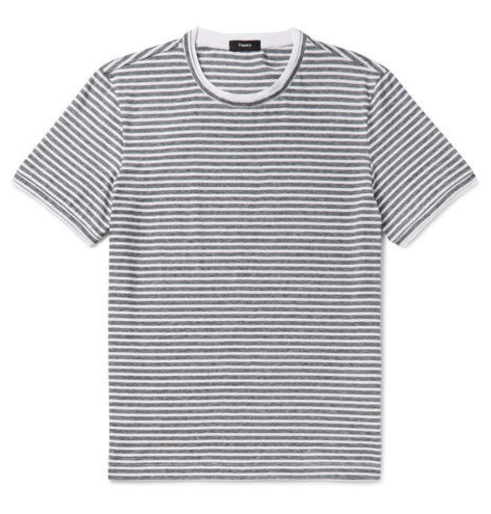 Theory - Rylee Slim-fit Striped Pima Cotton-jersey T-shirt - White