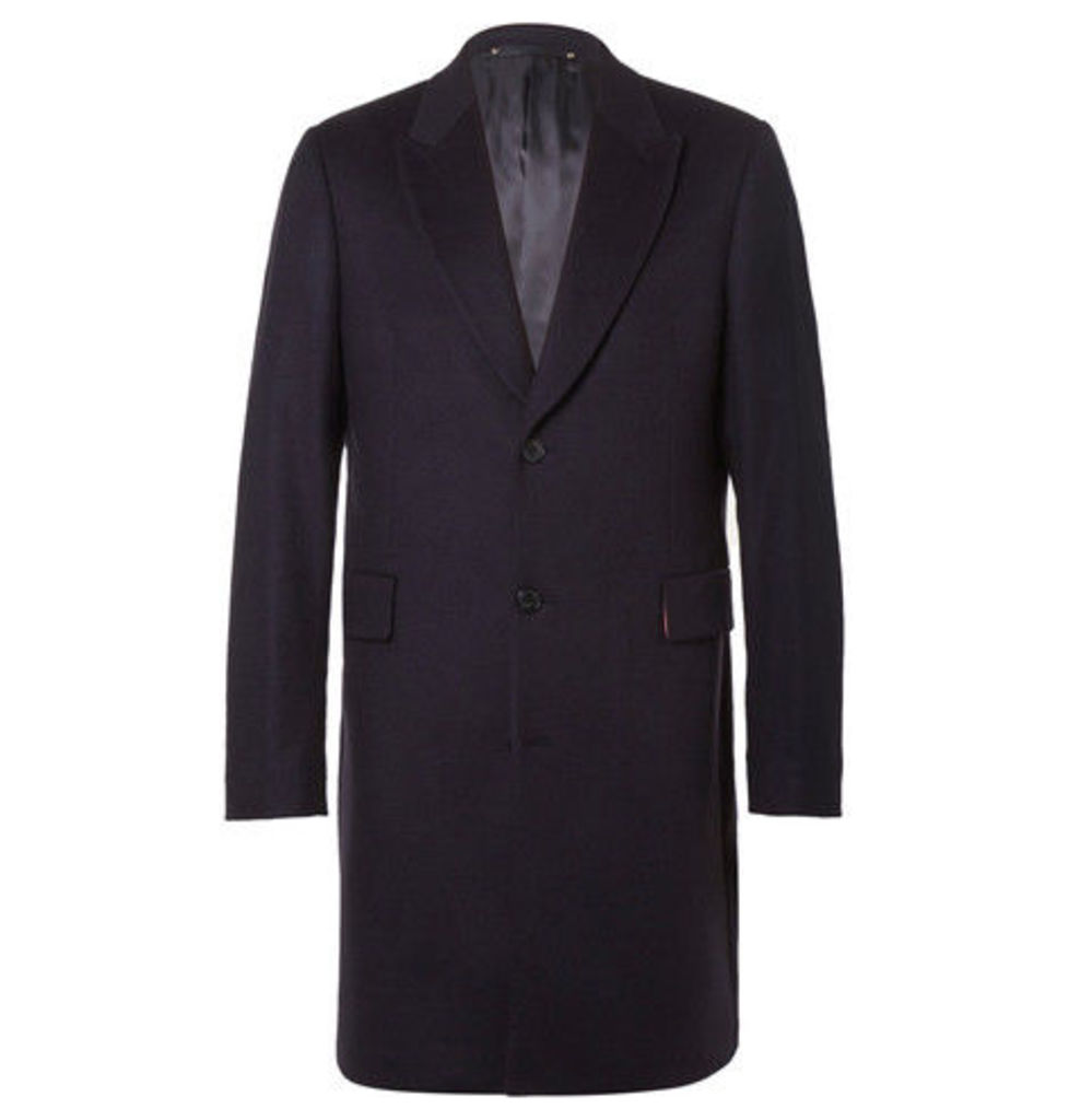 Paul Smith - Slim-fit Wool And Cashmere-blend Overcoat - Navy