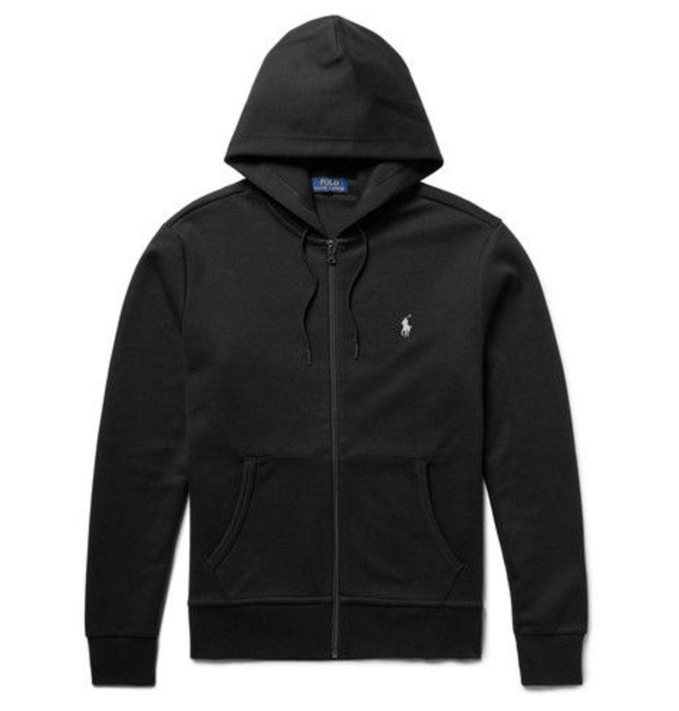 Polo Ralph Lauren - Jersey Zip-up Hoodie - Black