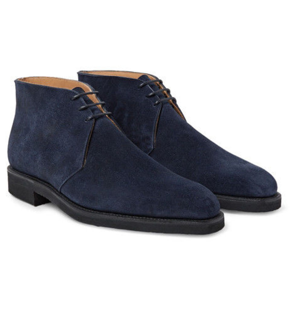 George Cleverley - Nathan Suede Chukka Boots - Navy