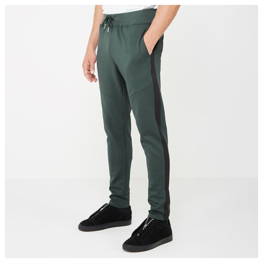 Tracksuit Joggers with Stripe - Green