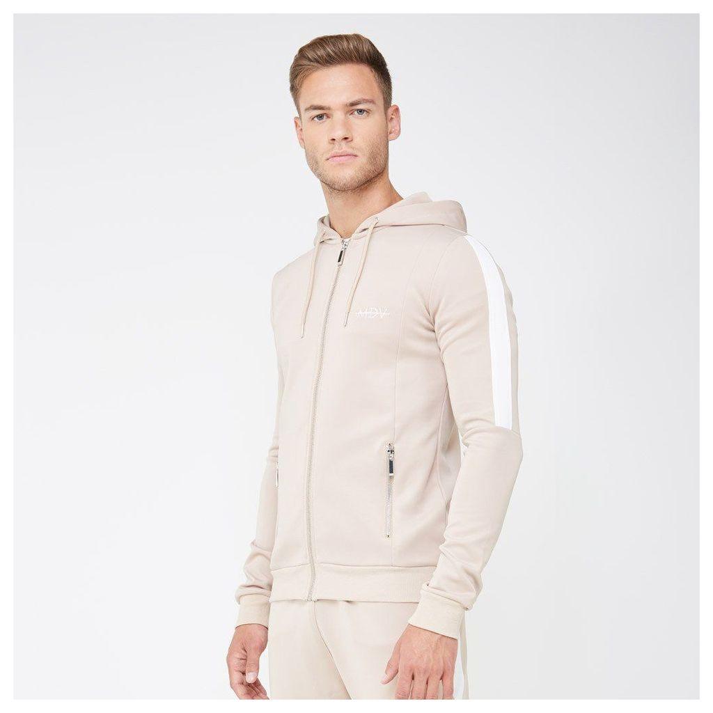 Tracksuit Jacket with Stripe - Beige