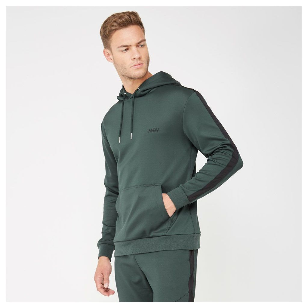 Tracksuit Hoodie with Stripe - Green