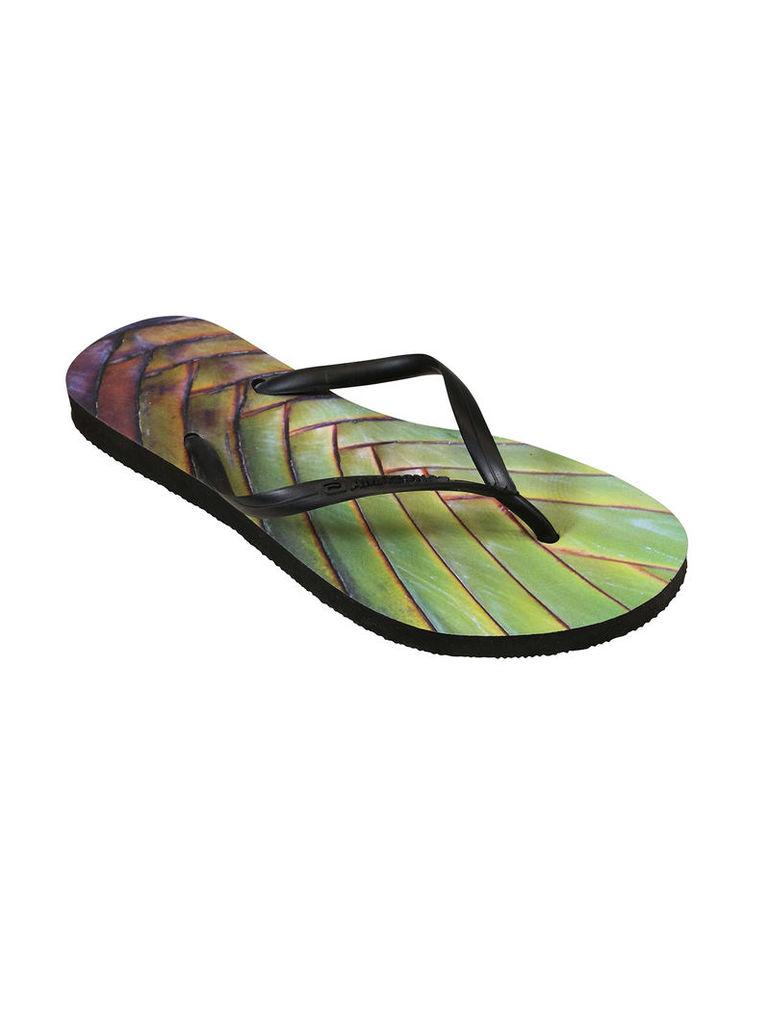Amazonas Enjoy Palmeira Black and Green Woman Flip-Flops
