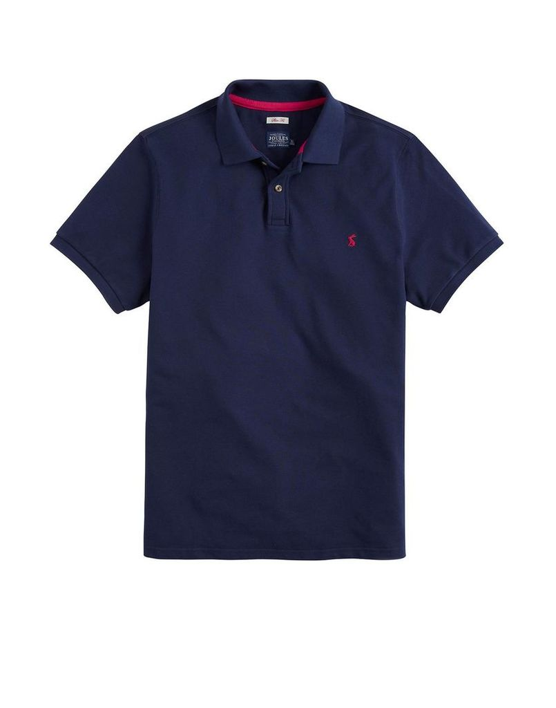 French Navy Woody Slim Fit Polo Shirt  Size L | Joules UK