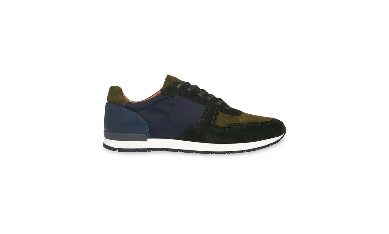 Leather Mix Trainers