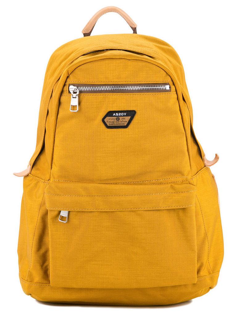 As2ov - Cordura Span 600D day pack - men - Nylon - One Size, Yellow/Orange