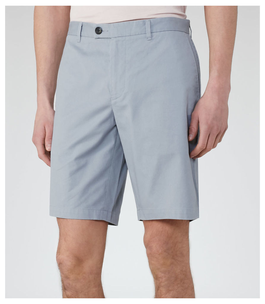 REISS Wicker - Tailored Chino Shorts in Blue, Mens