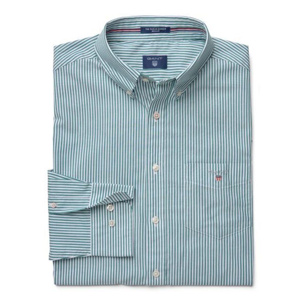 The Poplin Banker Shirt - Ivy Green