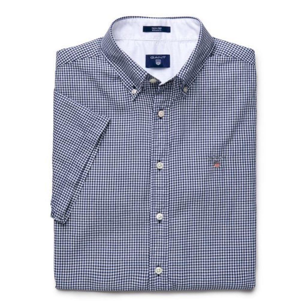 Short Sleeve Tech Prep ™ Check Shirt - Persian Blue