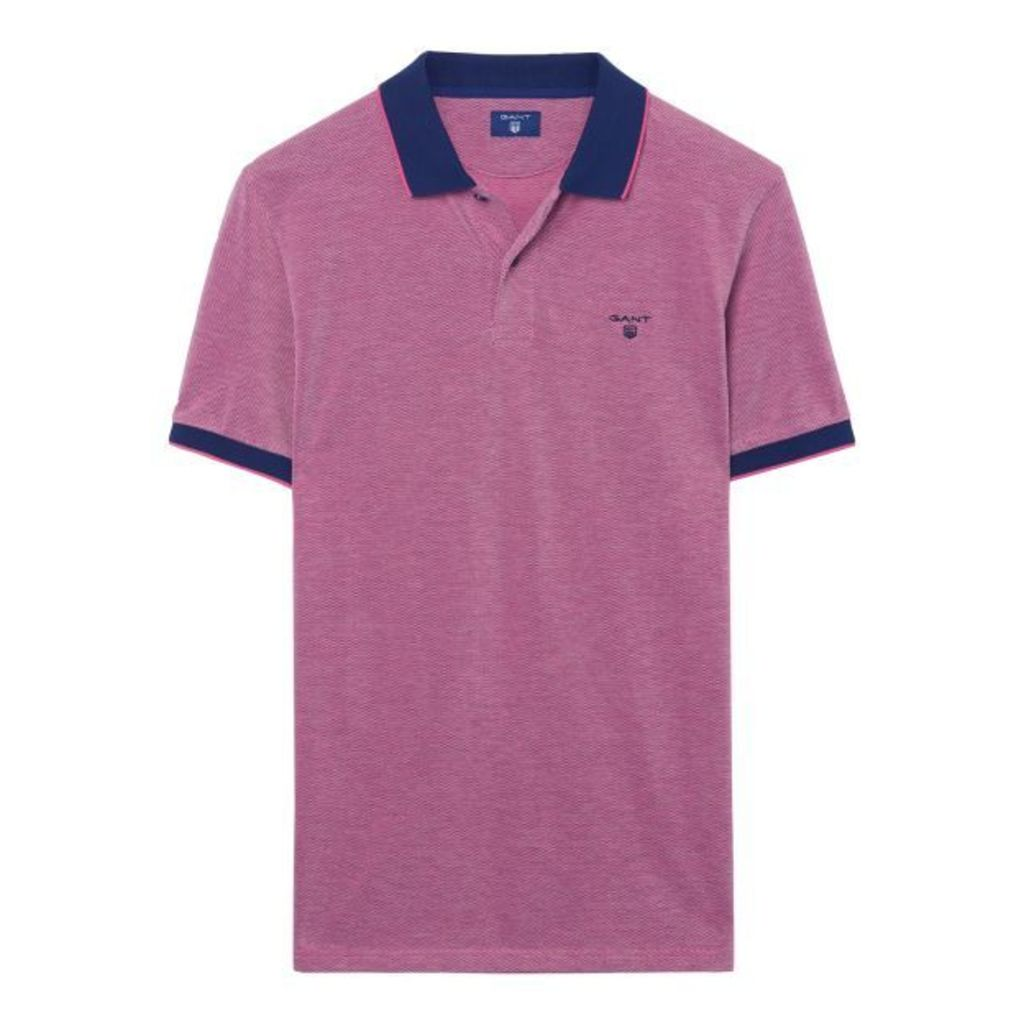 Four-color Oxford Polo Shirt - Rich Pink