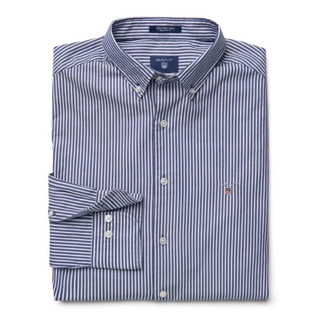 Tech Prep ™ Twill Stripe Shirt - Persian Blue