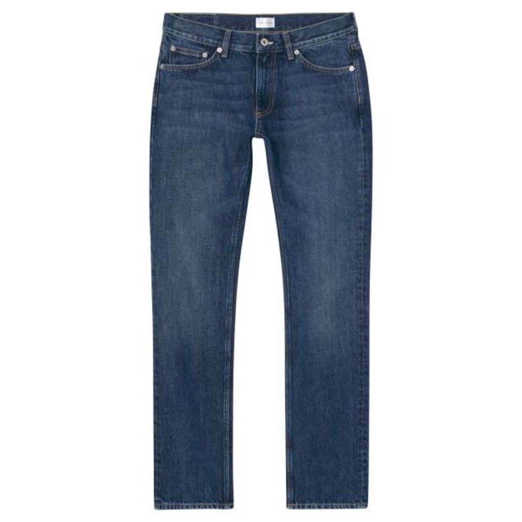 Slim Fit Mid Blue Jeans - Mid Blue