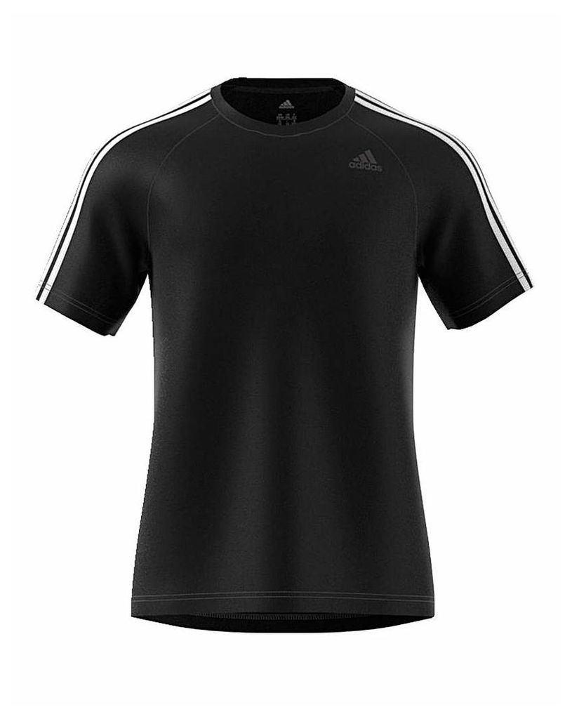 adidas 3 Stripe Poly T-Shirt